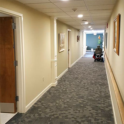 Commercial painting hallway