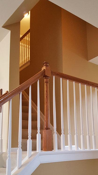 Residential painting stairway
