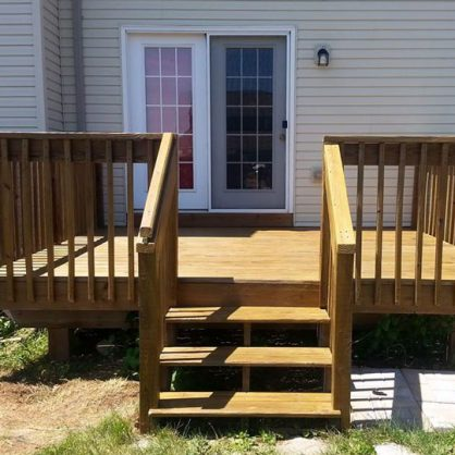 Deck cleaning, staining, sealing