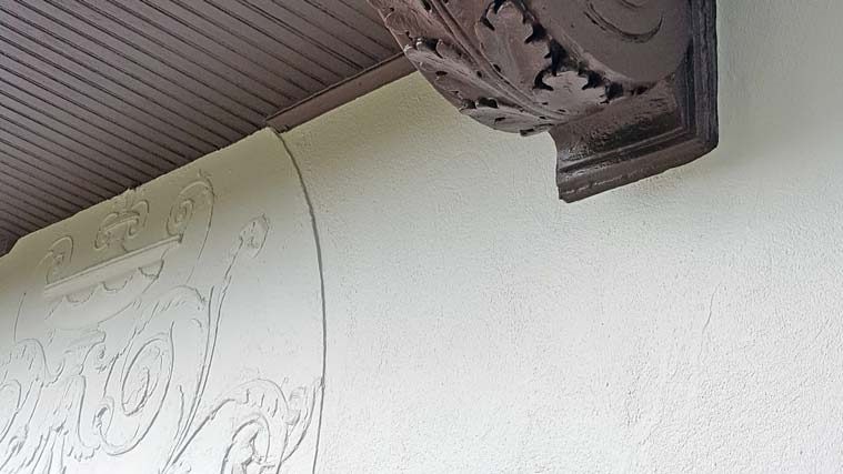 Stucco and balcony detail